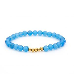 Blauachat Armband